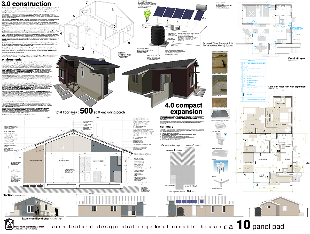 3rd Prize – Architectural Design Challenge for Affordable Housing
